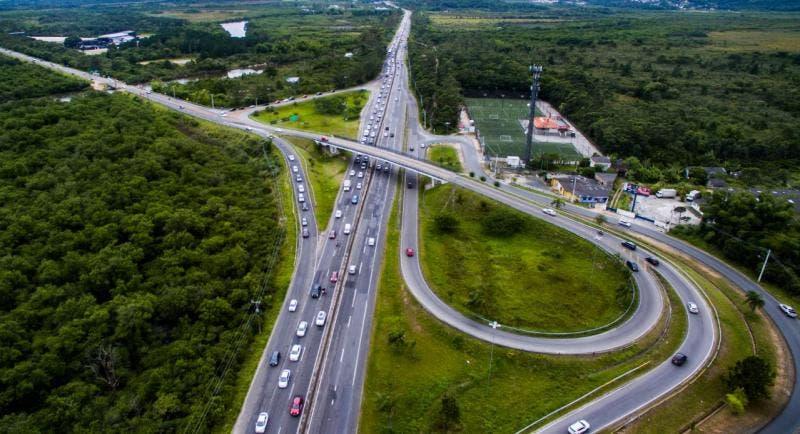Rodovia SC 401 passa por obra nesta quarta-feira em Florianópolis