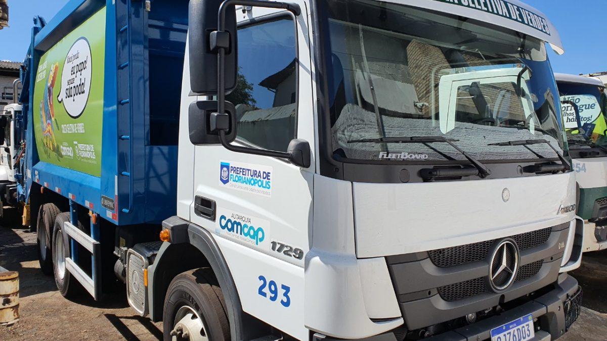 Comcap recebe equipamento e anuncia coleta seletiva de verdes em Florianópolis