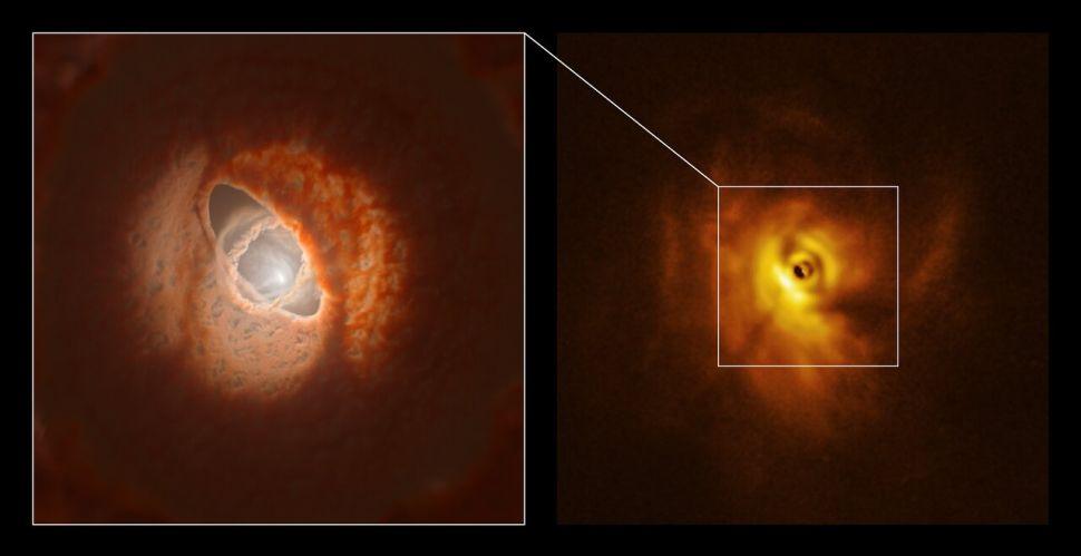 Os cientistas localizam um sistema de estrelas triplas destruindo seu disco de formação de planetas em um primeiro