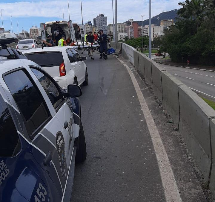 Um grave acidente é registrado neste domingo em Florianópolis