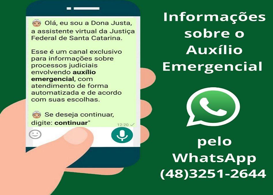 JFSC lança canal de comunicação para informações sobre processos do auxílio emergencial