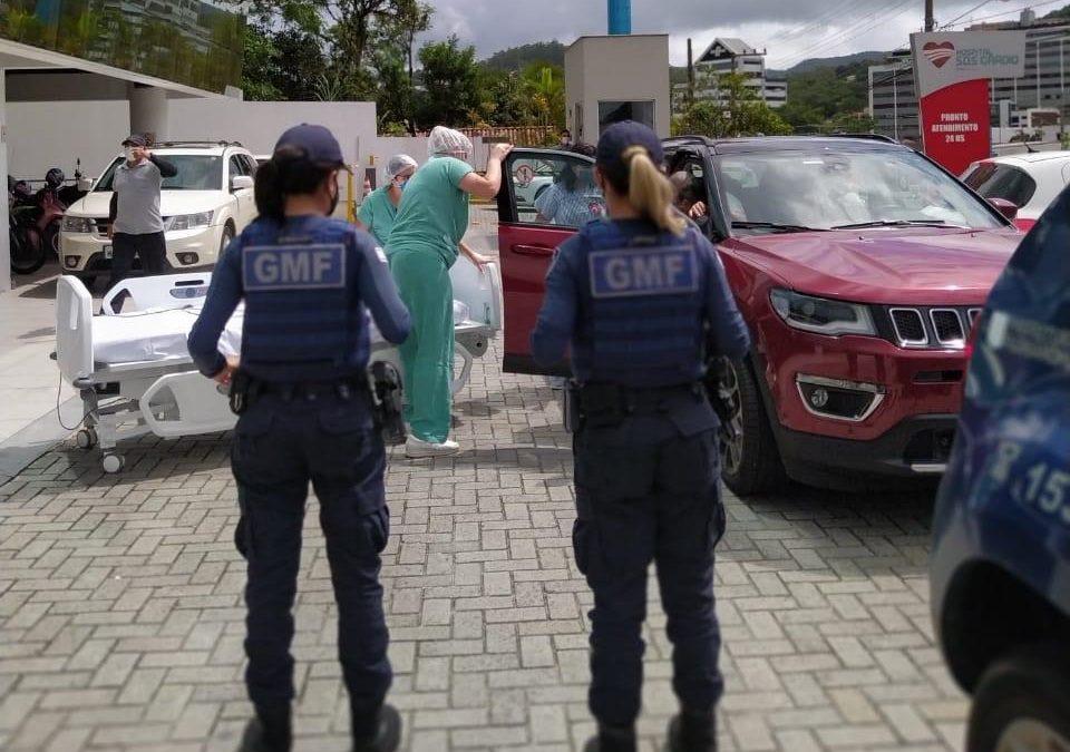 GMF auxilia pedido de ajudar para chegar no SOS CARDIO em Florianópolis
