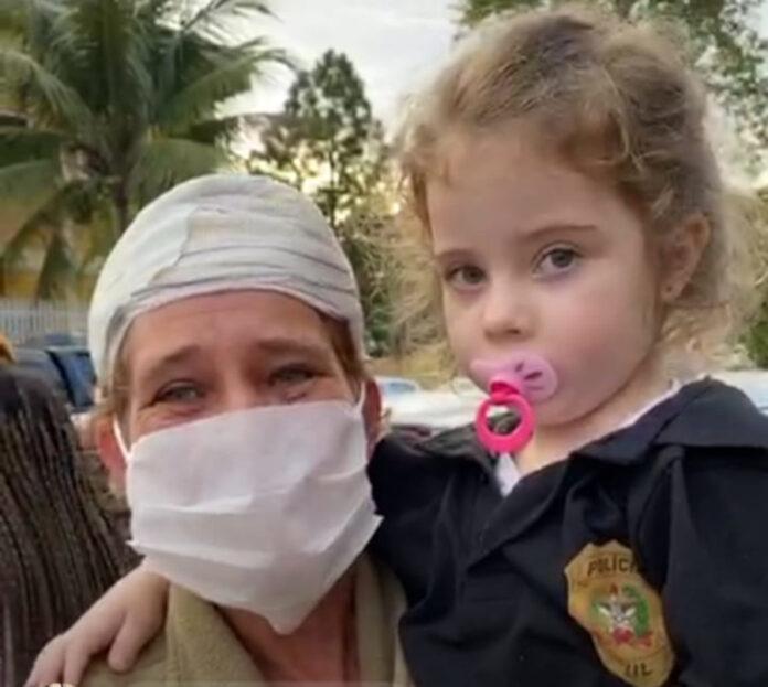 Menina que havia sido sequestrada em Palhoça é localizada pela Policia Civil