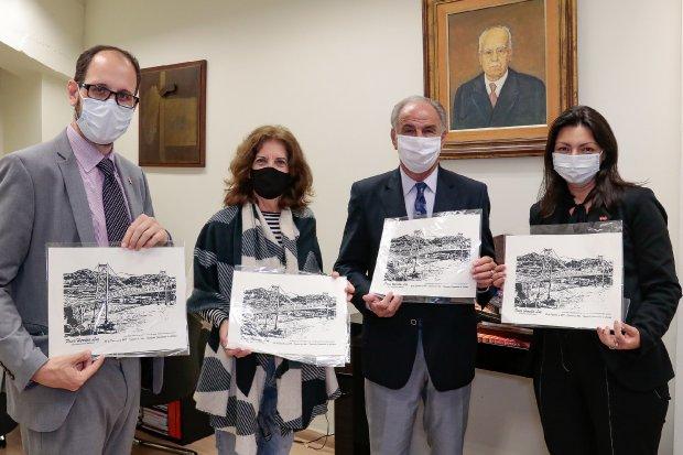 Adido cultural da Argentina e articula parcerias internacionais visitou Florianópolis