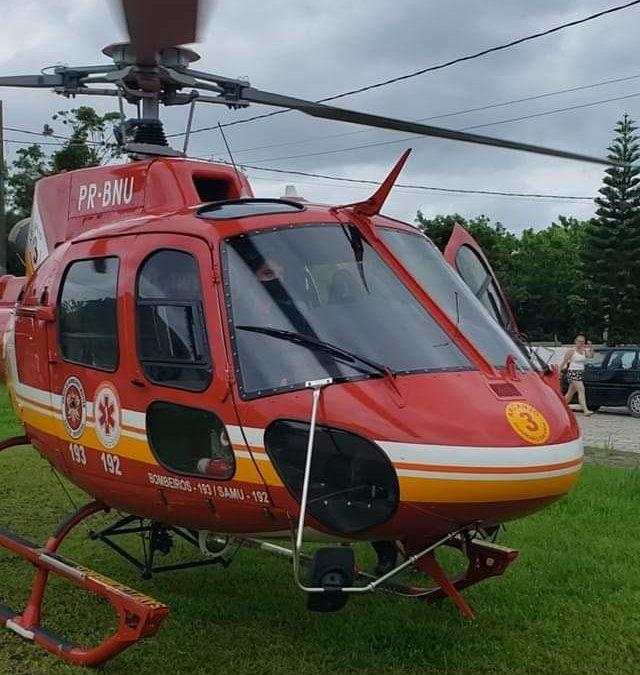 Arcanjo 03 socorre mulher em parada Cardiorrespiratória em Navegantes/SC