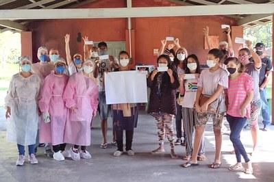 Quilombolas da Comunidade Vidal Martins, em Florianópolis, começaram a ser vacinados contra a covid-19