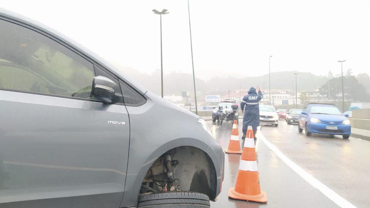 GMF alerta para cuidados redobrados no trânsito em dia de chuva na Capital